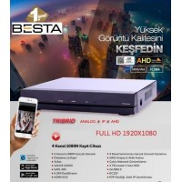 AHD DVR 4 Kanal Kamera Kayıt Cihazı 1080 2MP Hibrit Besta BS-4254