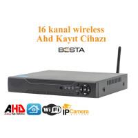 16 Kanal wireless 1080N KAYIT Cihazı H265   BS-5016w