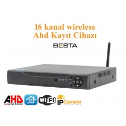 16 Kanal wireless 1080N KAYIT Cihazı H265   BS-5016w