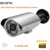 Besta KD-6063 2Mp 4 Atom Led 1080p Ip Kamera