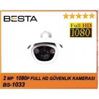 Besta BS-1033 2MP Ahd 1080P Atom Led Metal Kasa Güvenlik Kamerası