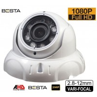 Besta BS-279 2MP Ahd 1080P 2.8 - 12MM Varifocal Dome Güvenlik Kamerası