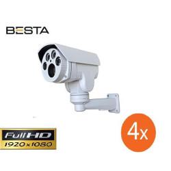 Besta BT-750-Z 2MP Ahd 1080P Motorize PTZ Metal Kasa Güvenlik Kamerası