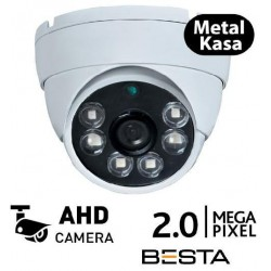 2MP Ahd 1080P 6 Atom Led Dome Güvenlik Kamerası Metal Kasa
