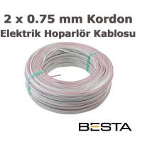 Besta BK-1101 2x0,75 100Metre Elektrik ve Hoporlör Kordon Kablo