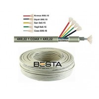 Besta BK-1384 100 Metre 4+1 0,22 CCTV Kamera Kablosu