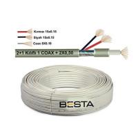 Besta BK-1388 250 Metre 2+1 0,50 CCTV Kamera Kablosu