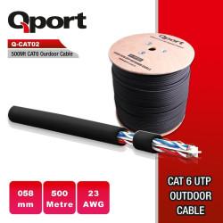 QPort Q-CATO2 500 Metre CAT6 23 Awg Outdoor Kablo